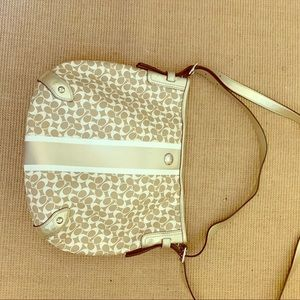 Large cross body coach purse